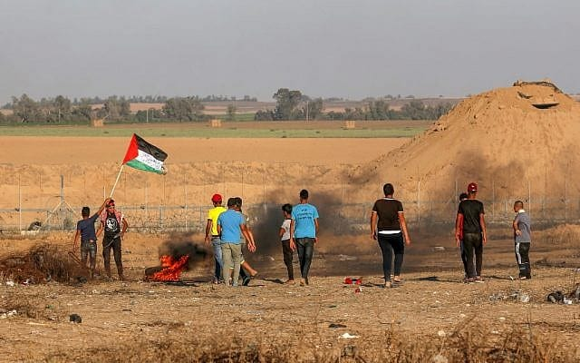 7,000 Protest on Gaza Border After Latest Understandings Between Israel, Hamas