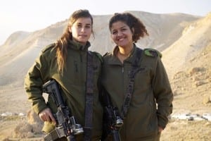 IDF Women Warm-Up on Gaza and Egyptian Border with Warm Winter Wear Provided by LIBI