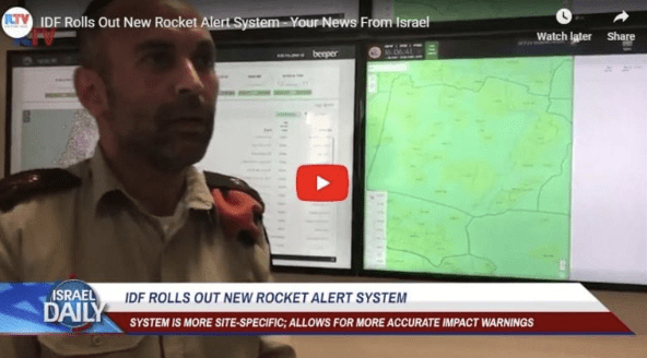 [WATCH] Israel Initiates New System to Warn Civilians of Rocket Attacks