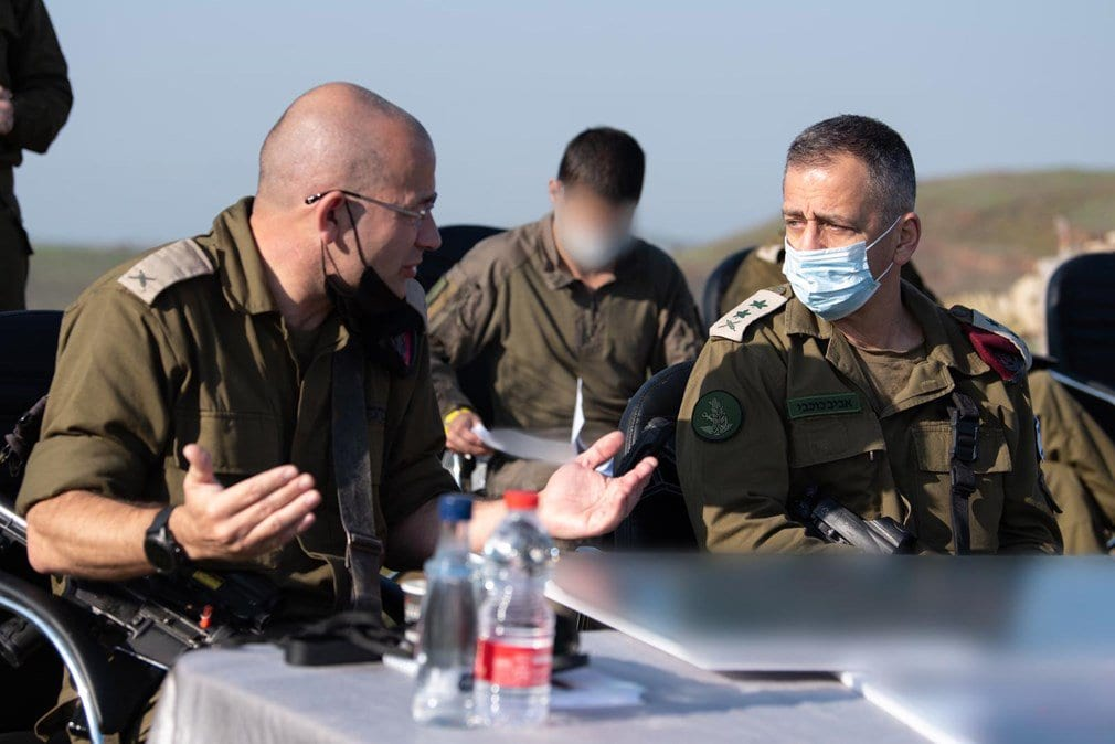 Chief of Staff Surveys IDF's Forces In The Bashan Region Amid Tensions